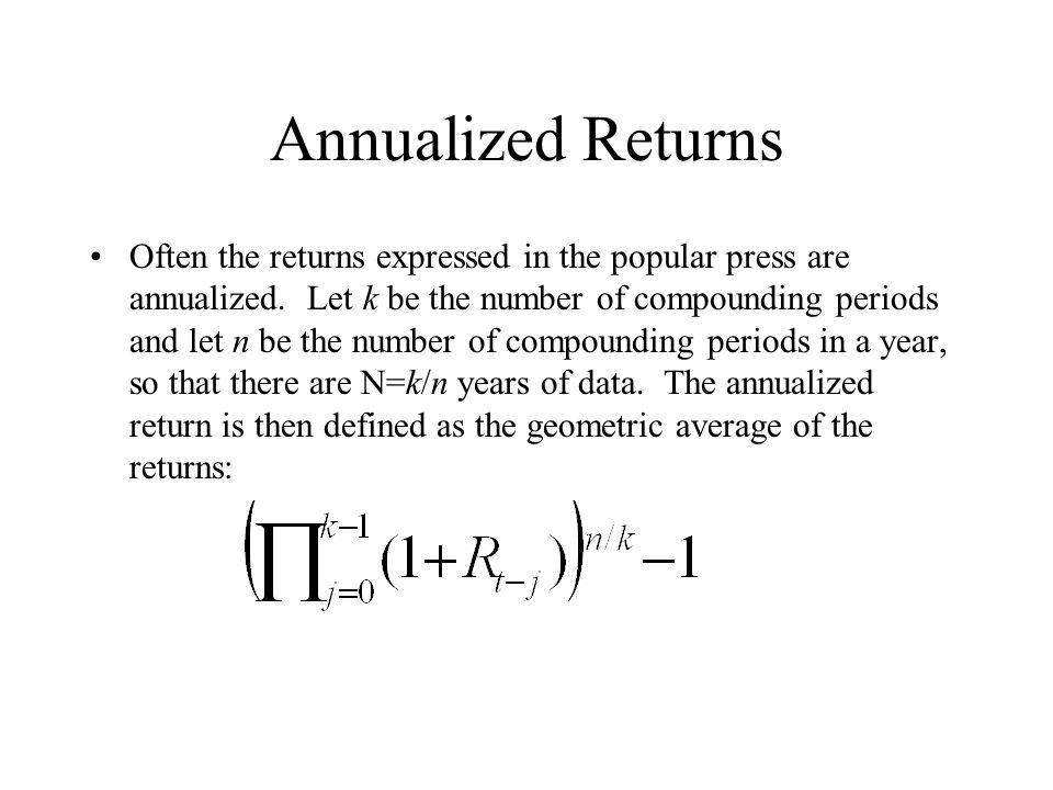 Annualized Returns