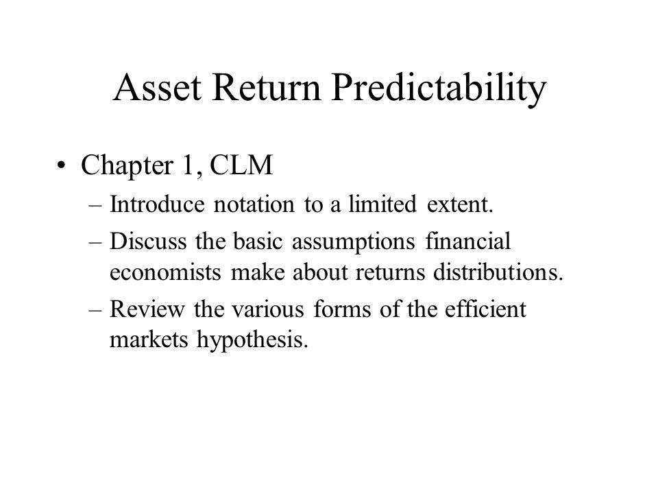 Asset Return Predictability