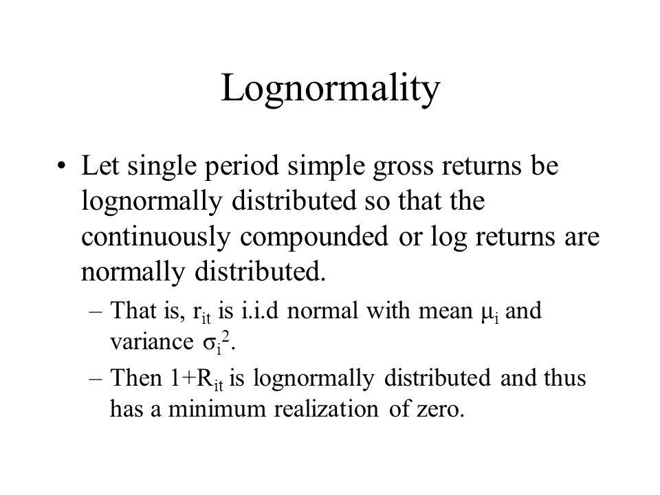 Lognormality