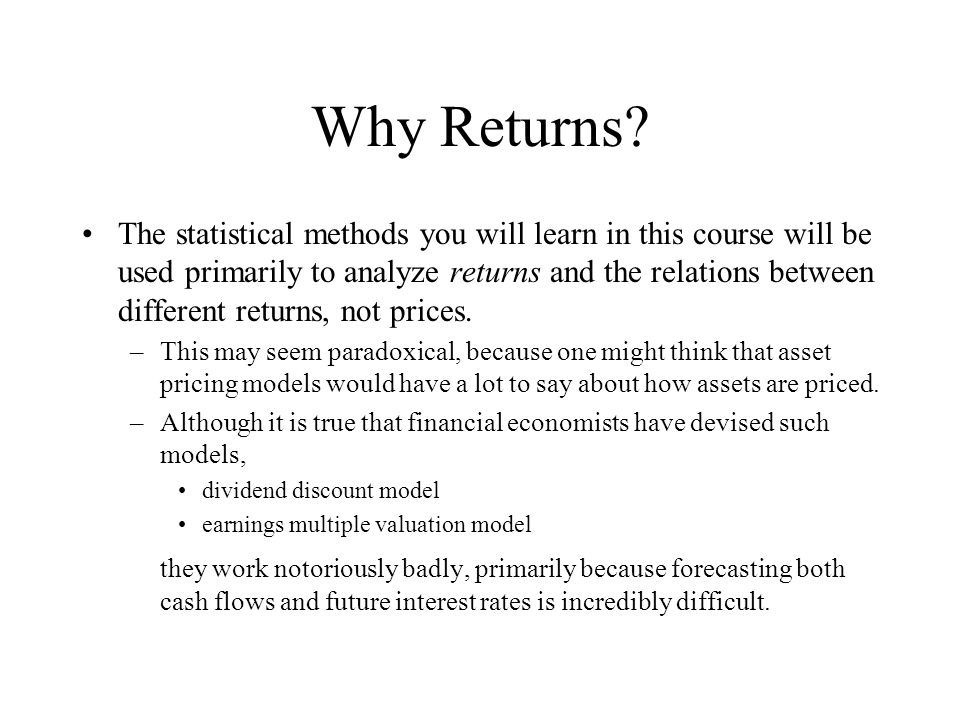 Why Returns