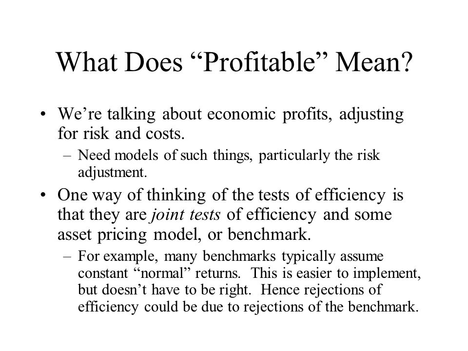 What Does Profitable Mean
