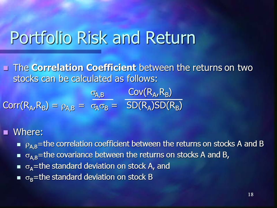 Portfolio Risk and Return