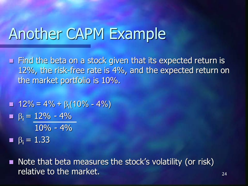 Another CAPM Example