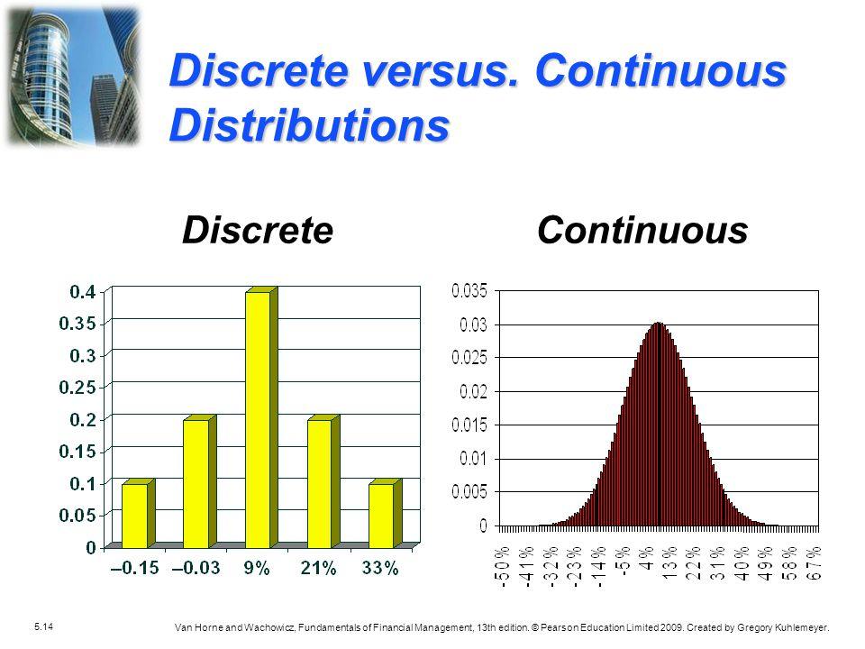 Discrete versus. Continuous Distributions