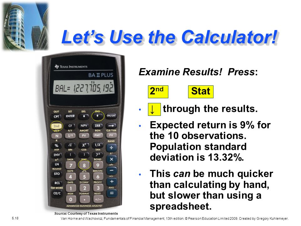 Let's Use the Calculator!