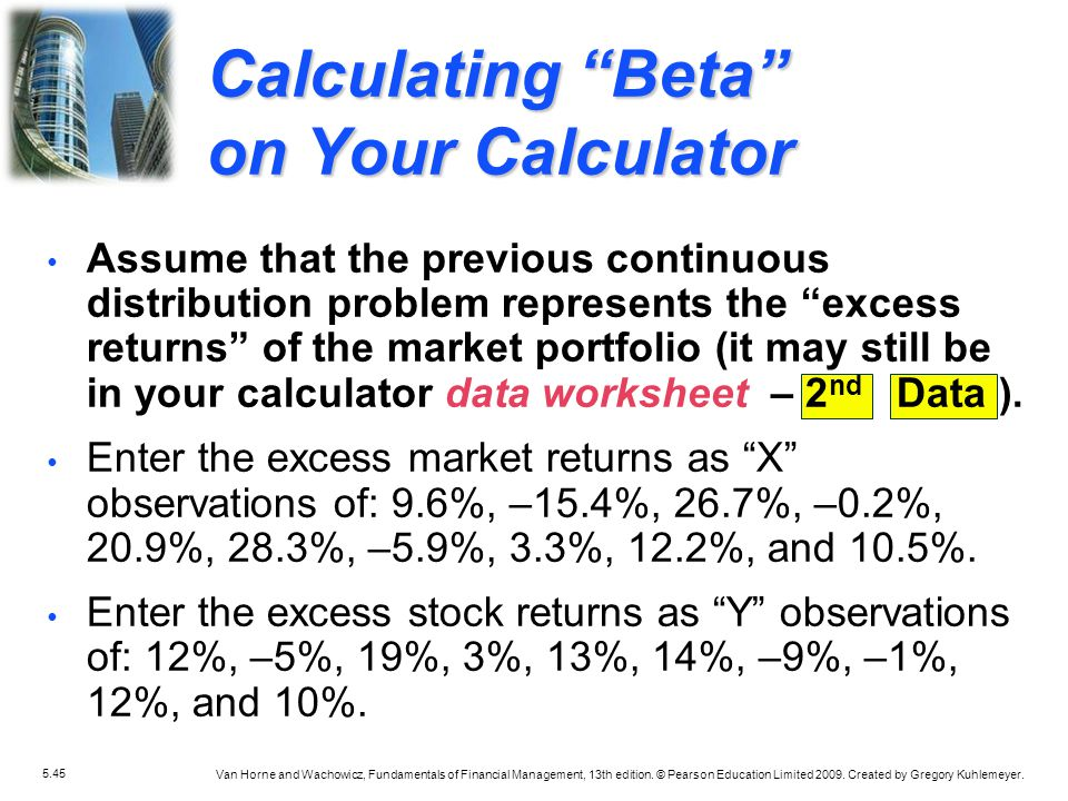 Calculating Beta on Your Calculator