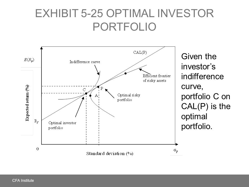 EXHIBIT 5-25 Optimal Investor Portfolio