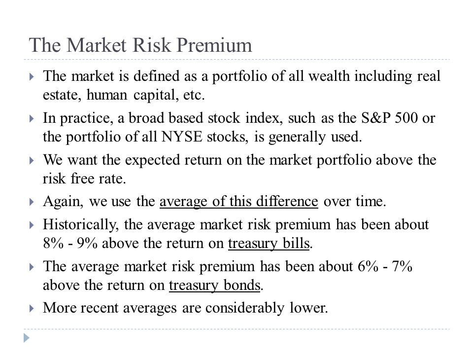 The Market Risk Premium