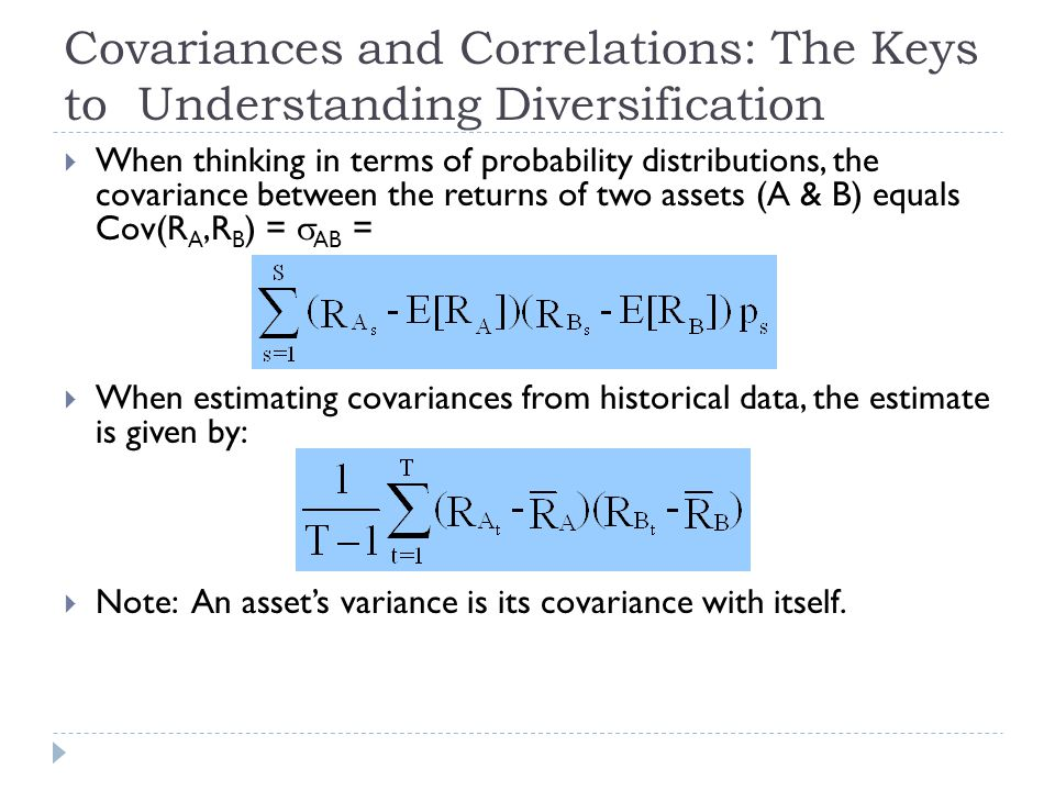 Covariances and Correlations: The Keys to Understanding Diversification