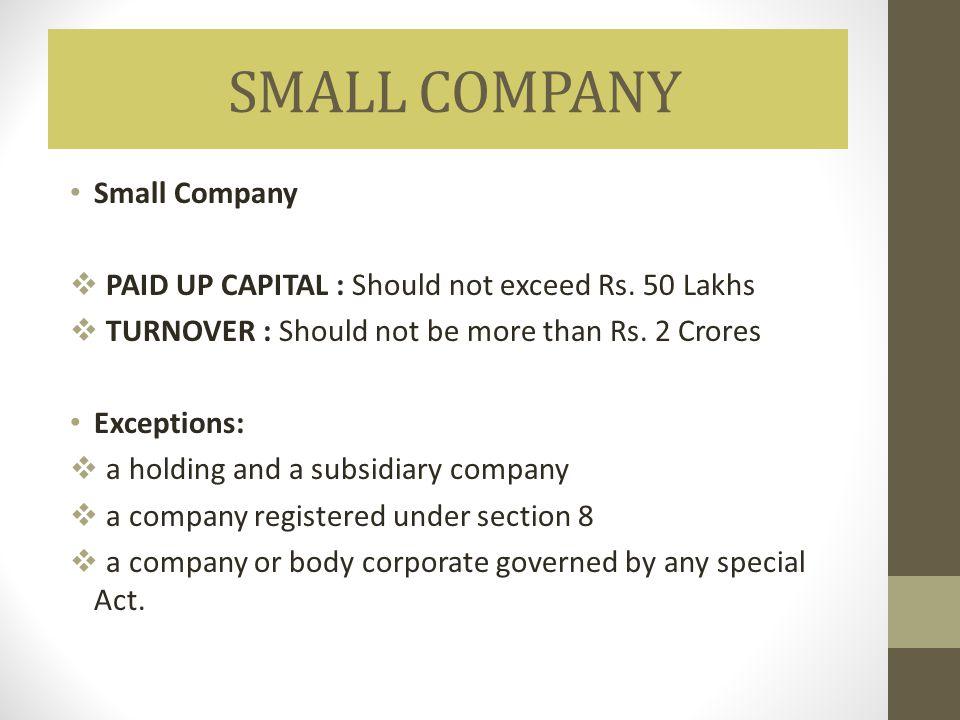 SMALL COMPANY Small Company