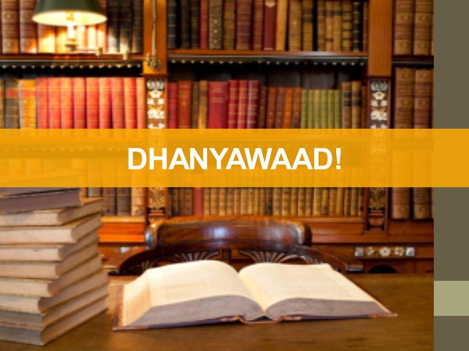 DHANYAWAAD!