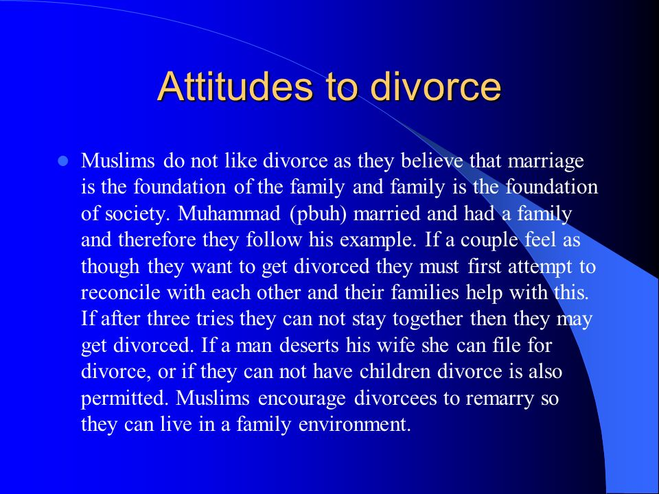 Attitudes to divorce