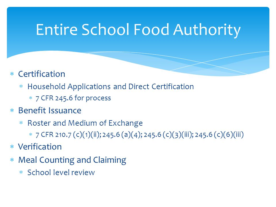 Entire School Food Authority