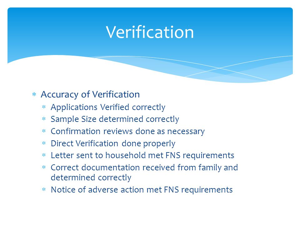 Verification Accuracy of Verification Applications Verified correctly