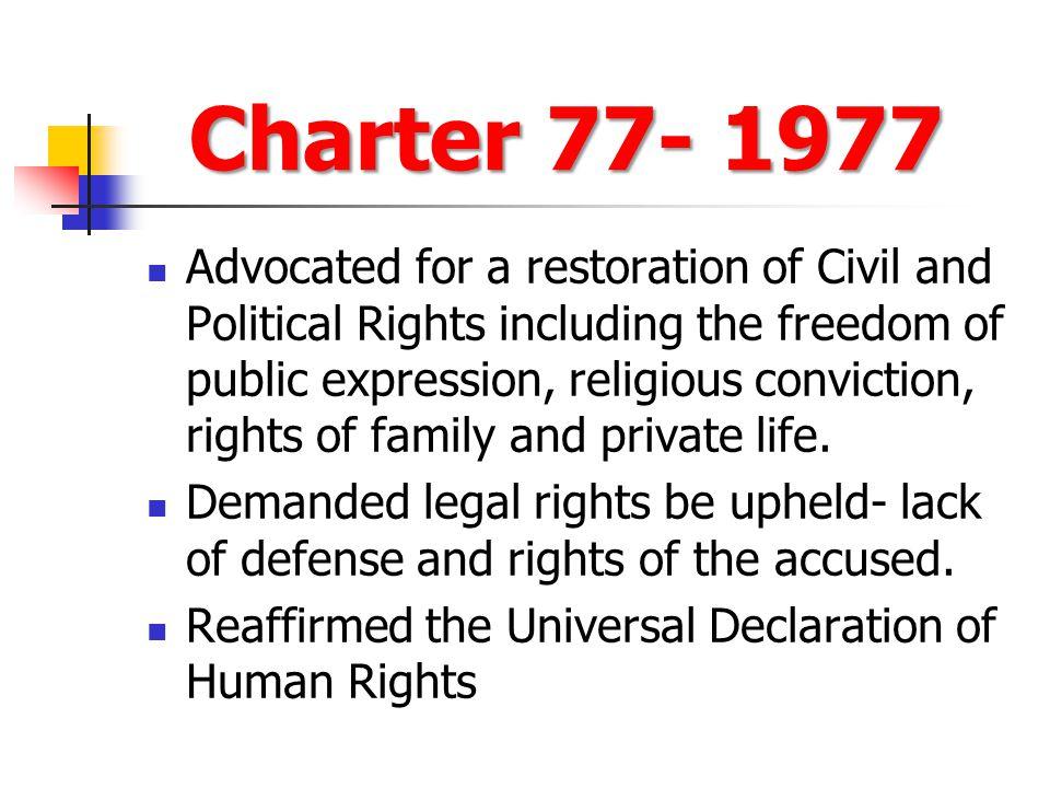 Charter 77- 1977