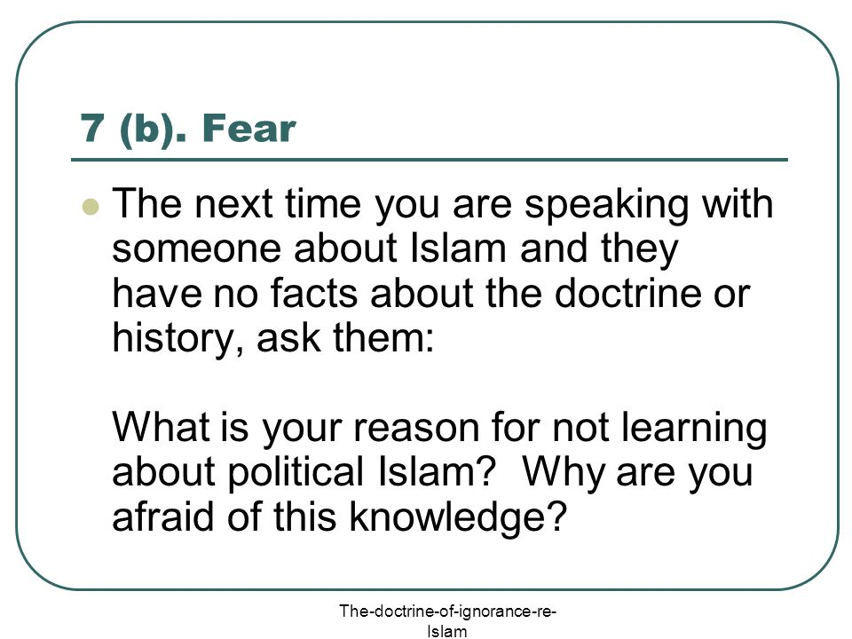The-doctrine-of-ignorance-re-Islam