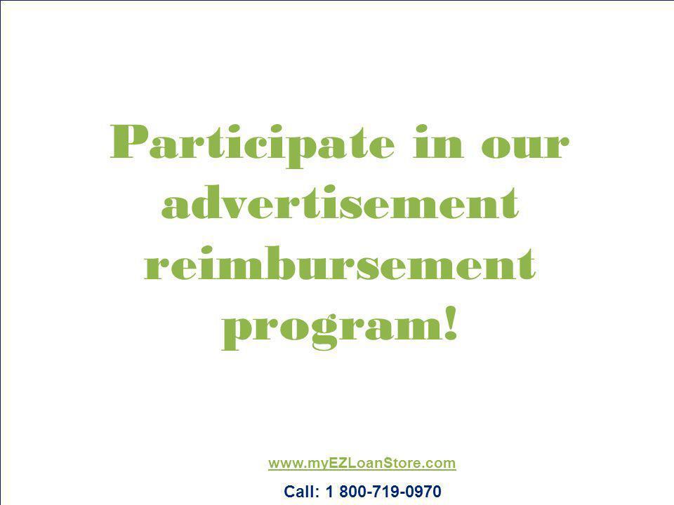 Participate in our advertisement reimbursement program!