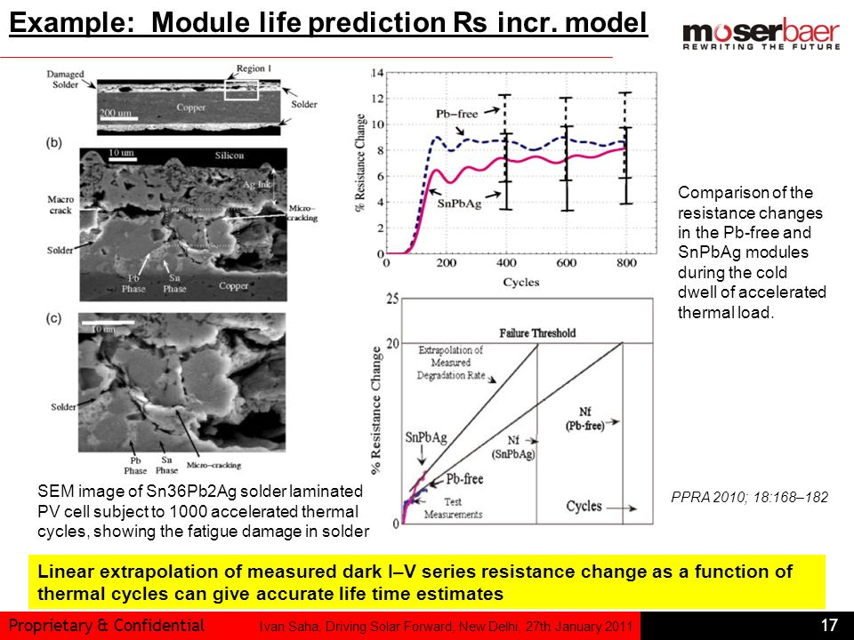 Example: Module life prediction Rs incr. model