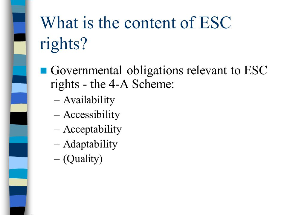 What is the content of ESC rights