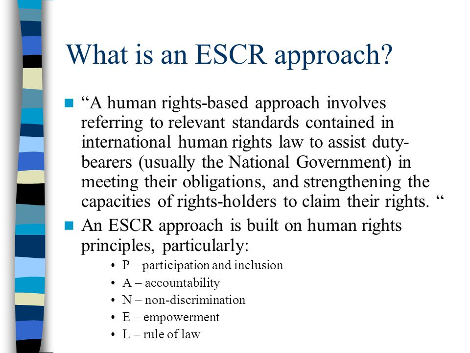 What is an ESCR approach