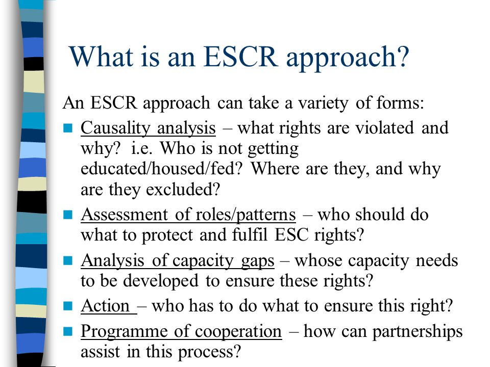 What is an ESCR approach