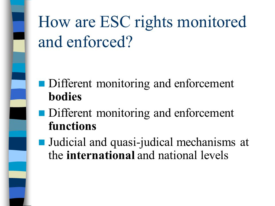 How are ESC rights monitored and enforced
