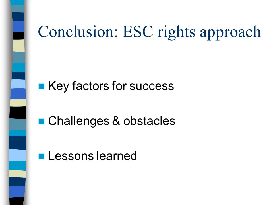 Conclusion: ESC rights approach