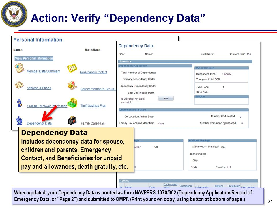 Action: Verify Dependency Data