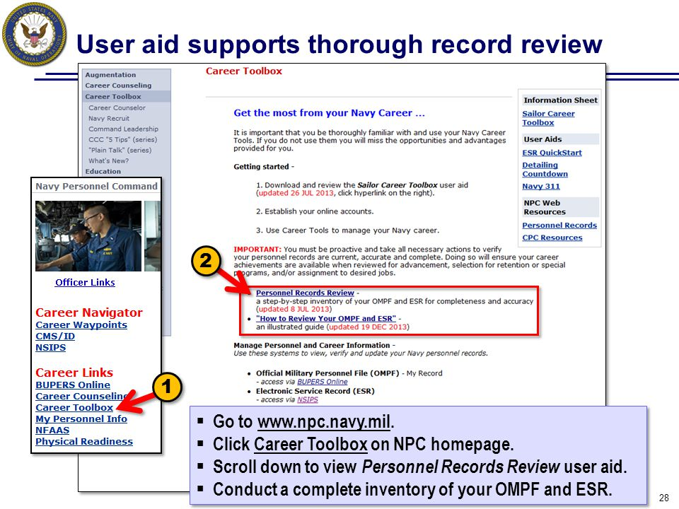 User aid supports thorough record review