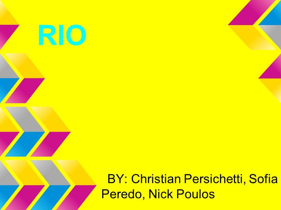 BY: Christian Persichetti, Sofia Peredo, Nick Poulos