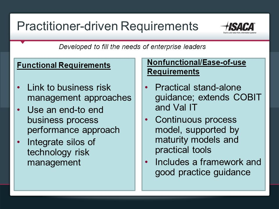 Practitioner-driven Requirements