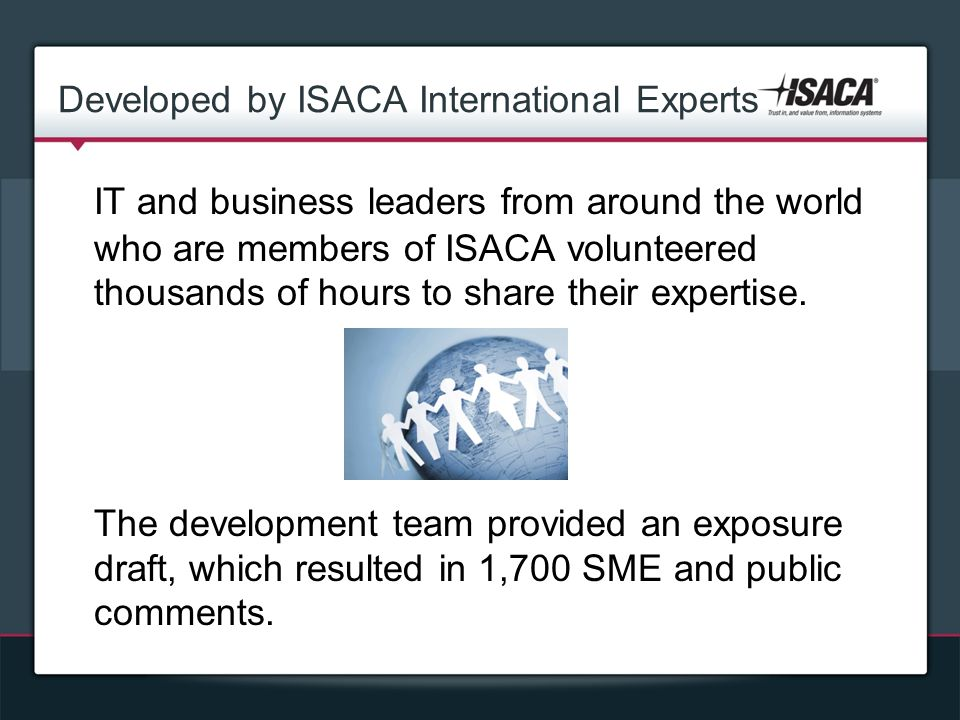 Developed by ISACA International Experts