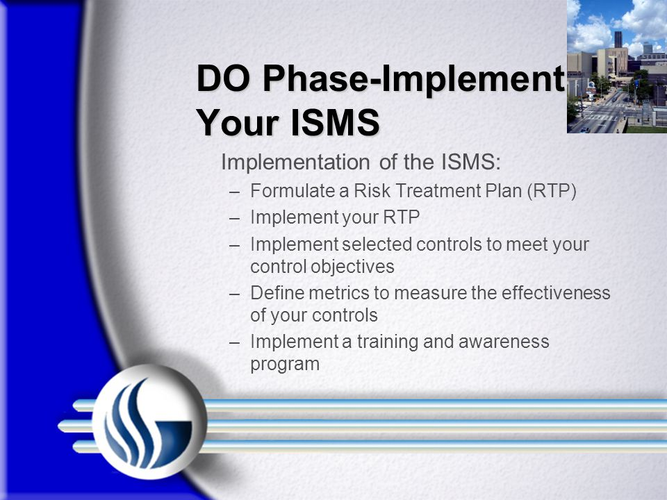 DO Phase-Implement Your ISMS
