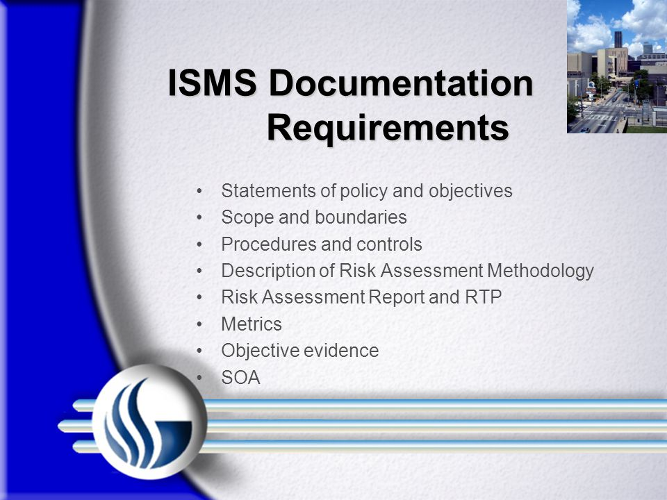 ISMS Documentation Requirements