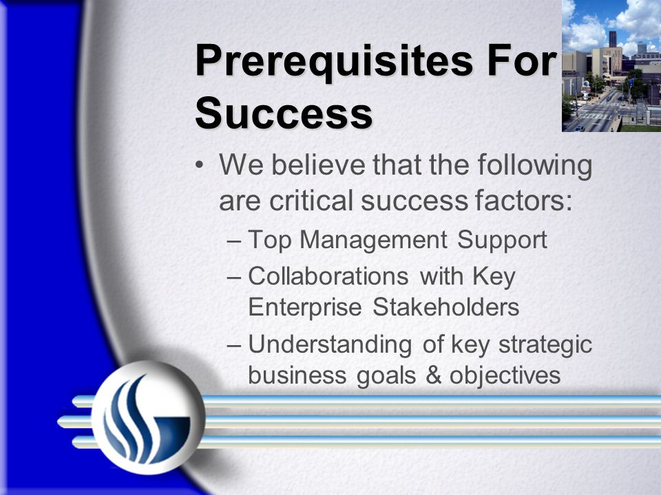 Prerequisites For Success