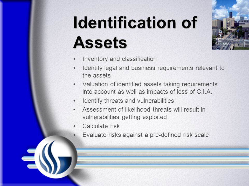 Identification of Assets