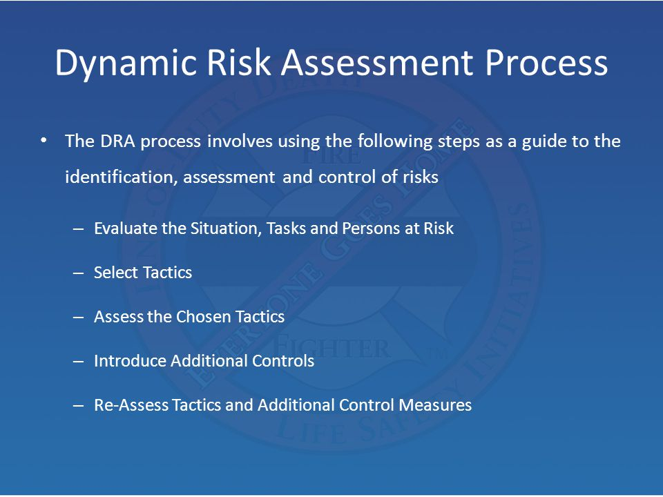 Dynamic Risk Assessment Process