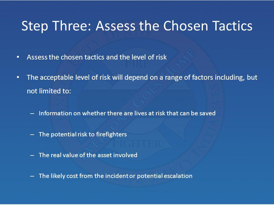 Step Three: Assess the Chosen Tactics