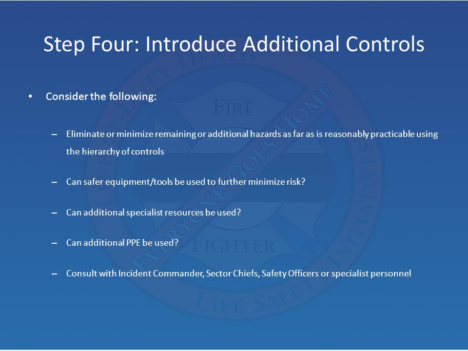 Step Four: Introduce Additional Controls