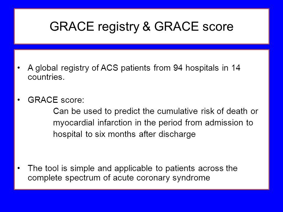 GRACE registry & GRACE score