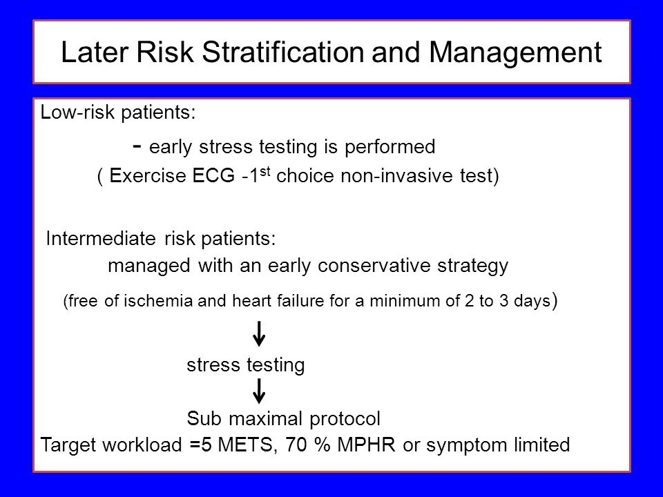 Later Risk Stratification and Management
