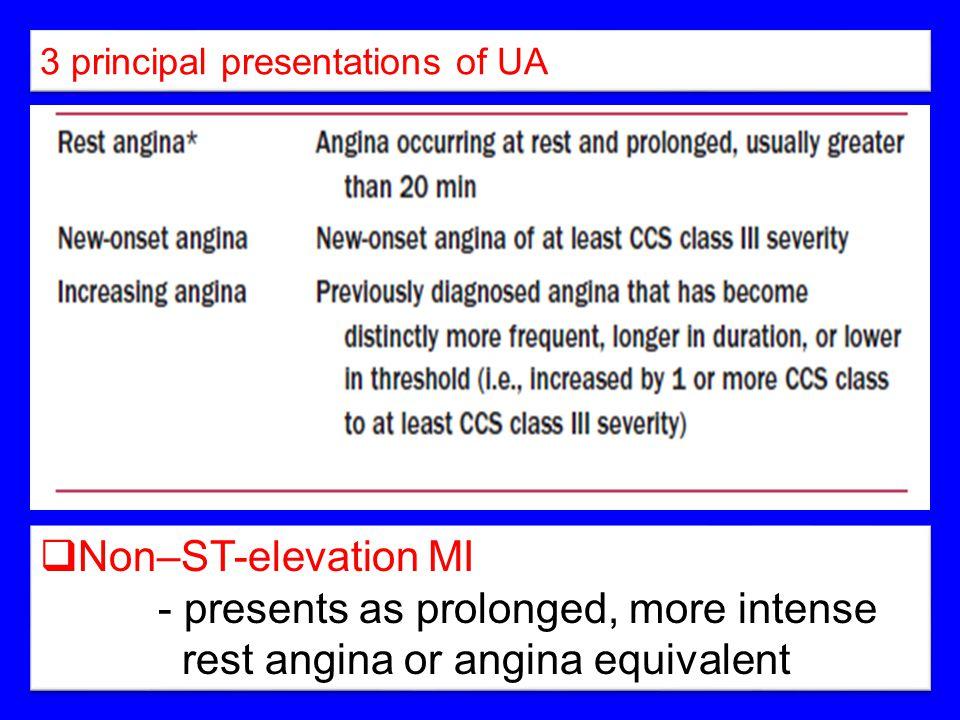 3 principal presentations of UA