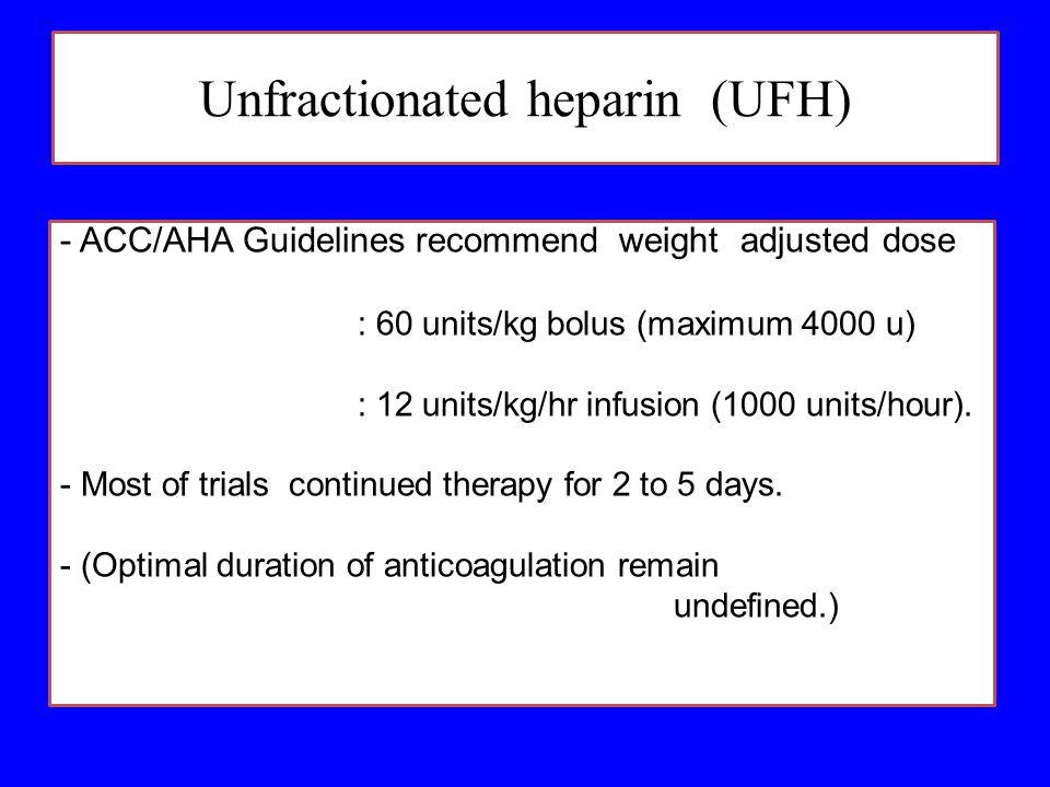 Unfractionated heparin (UFH)