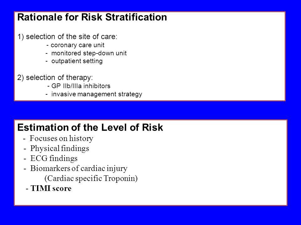 Rationale for Risk Stratification