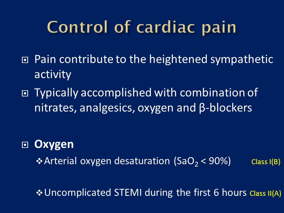 Control of cardiac pain