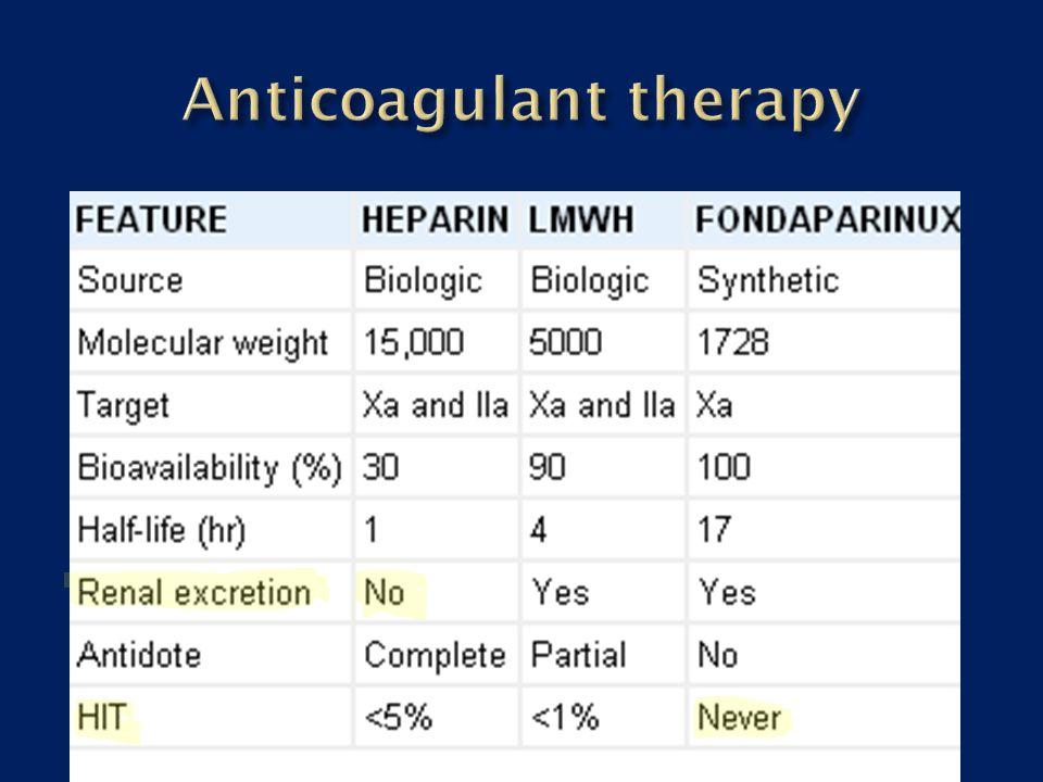Anticoagulant therapy