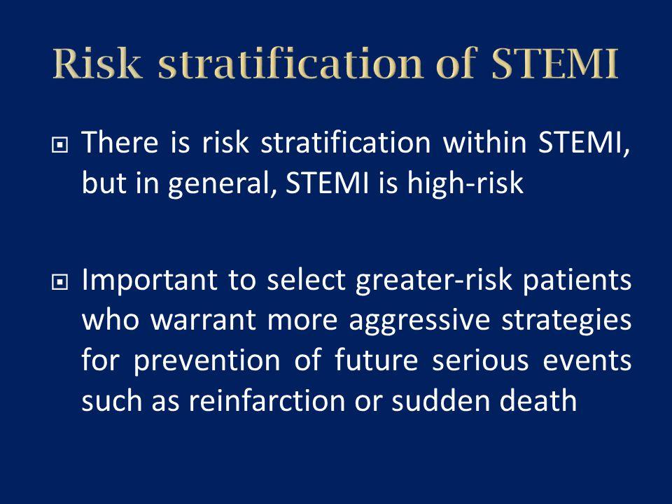 Risk stratification of STEMI