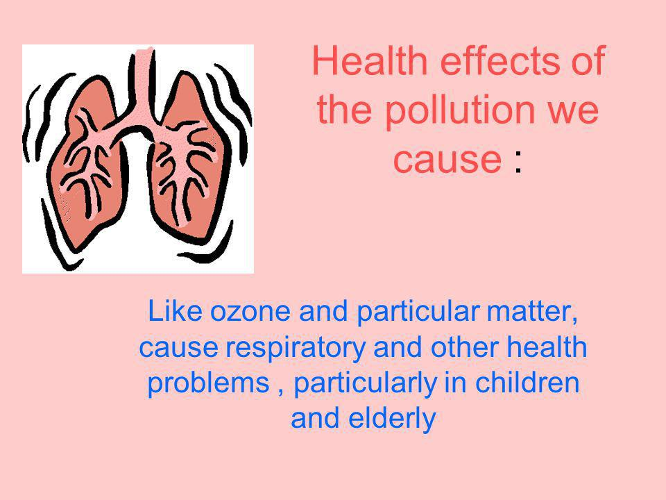 Health effects of the pollution we cause :