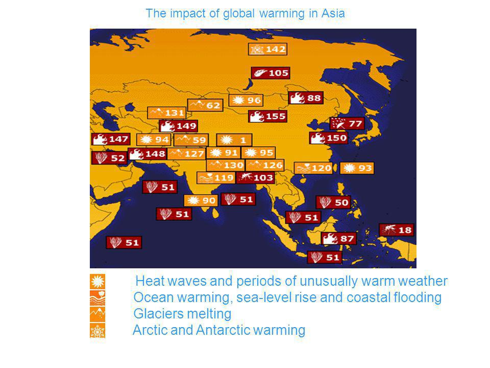 The impact of global warming in Asia