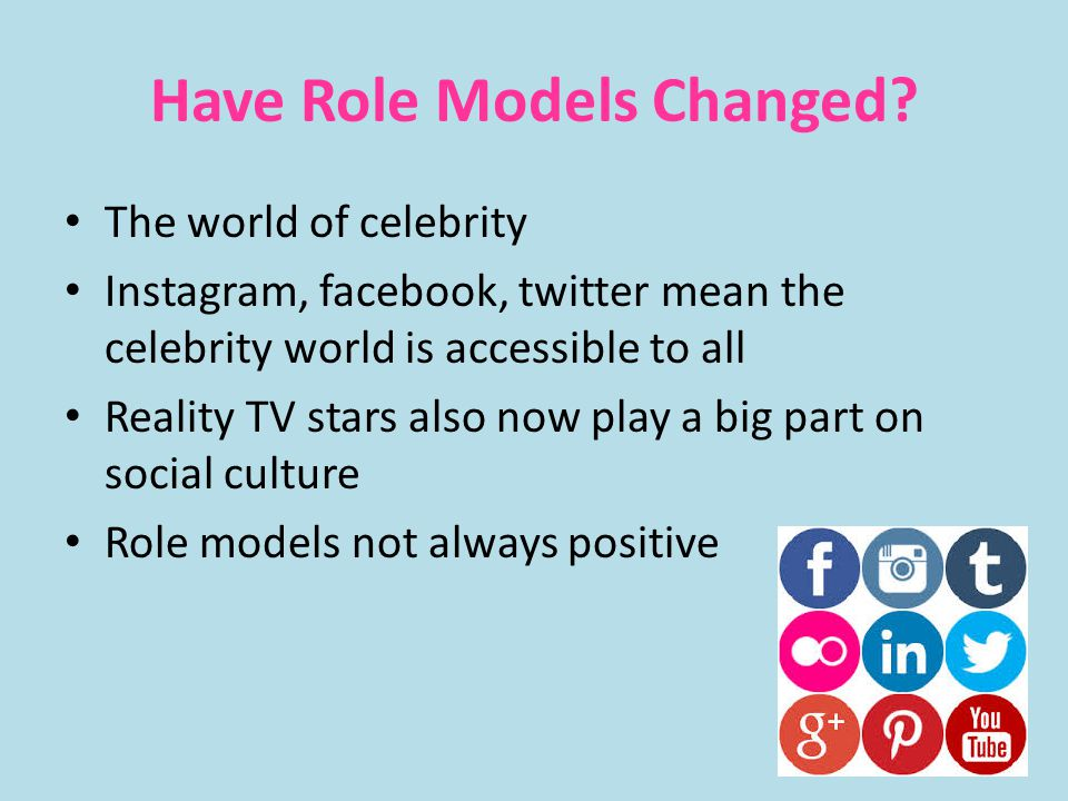 Have Role Models Changed